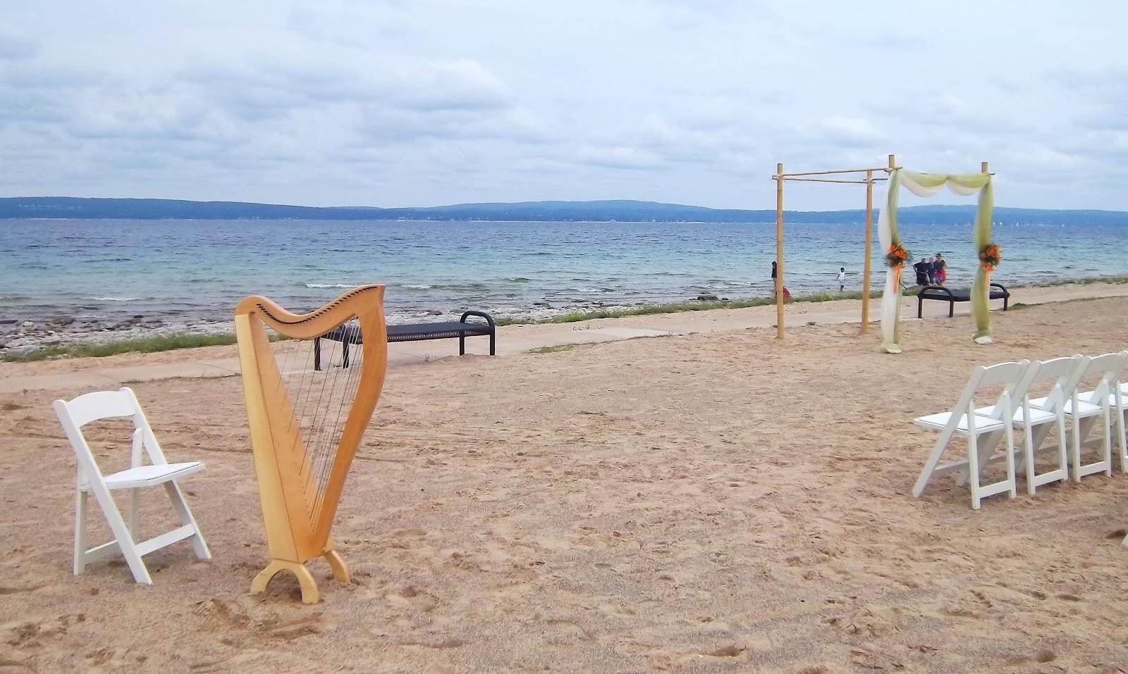Northern Michigan Harpist ~ Wedding Ceremony and Reception at Bay ...