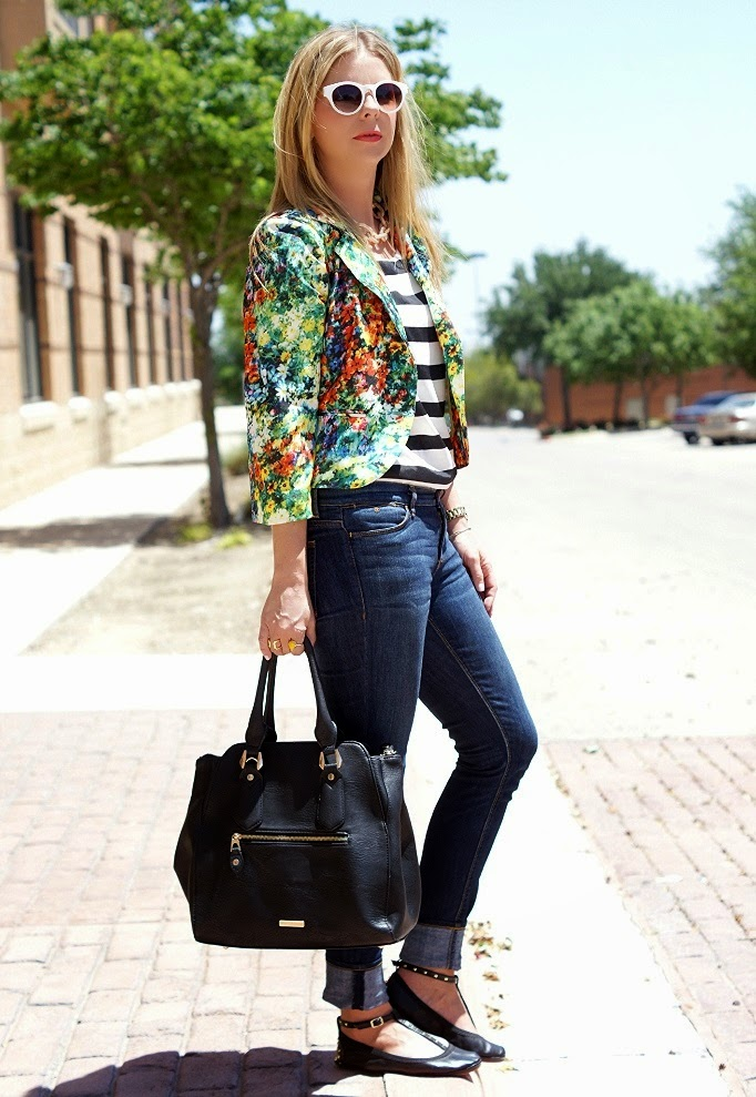 Floral and Stripe Pattern Mixing