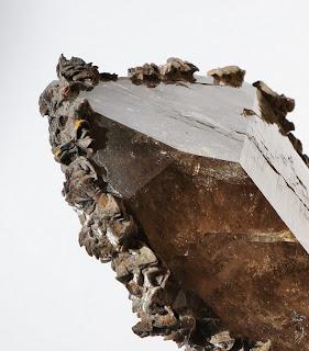 détail d'un cristal du Mont-Blanc
