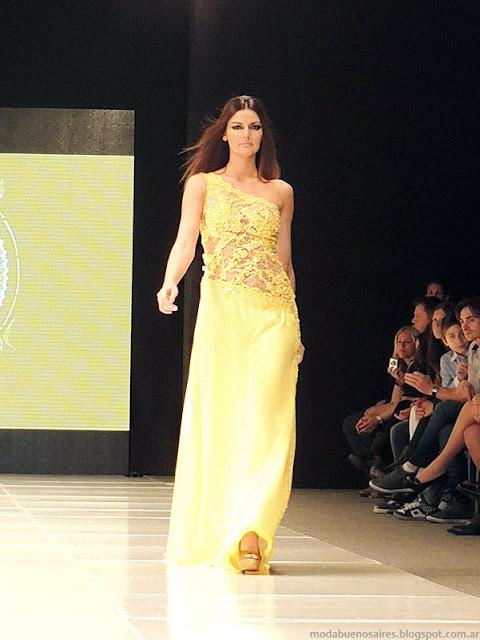 Claudio Cosano vestidos de fiesta 2014 moda Argentina.