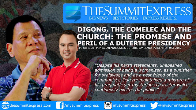 Digong, the COMELEC and the church