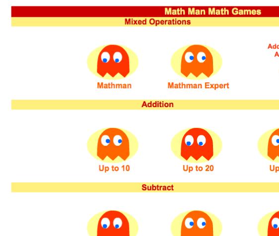 http://www.sheppardsoftware.com/mathgames/mathman/mathmanmenu.htm