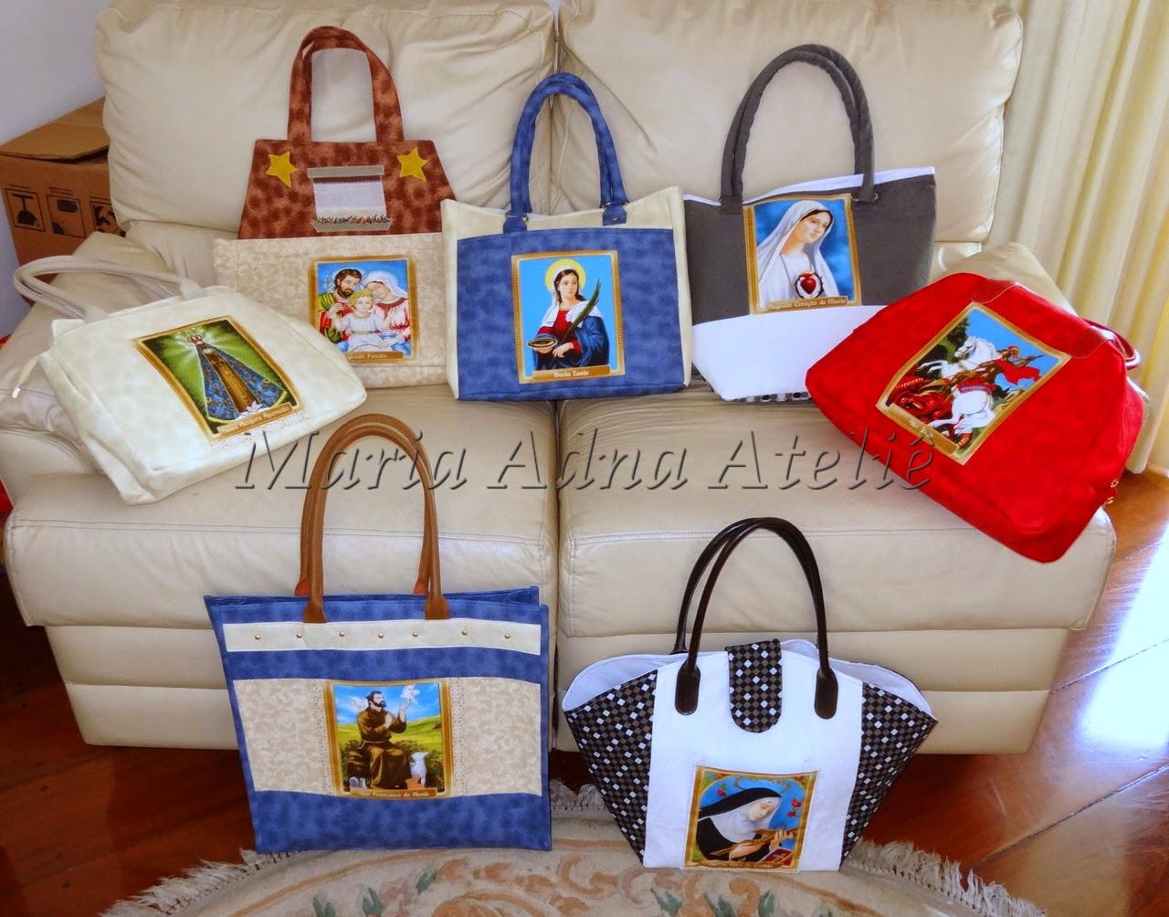 Bolsas com imagens de Santos