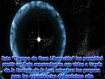 """Este es un """"Tiempo de Gran Liberación"""" y los que están despiertos ya lo saben, empléenlo en la limpieza del Ser y la Expansión de la Luz."""