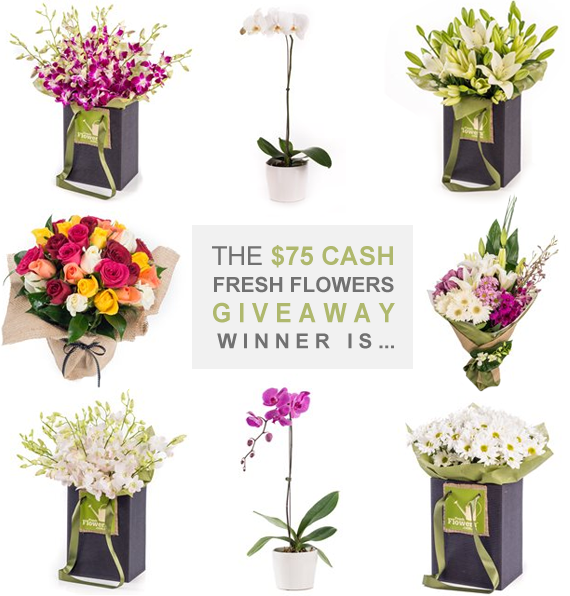 Did You Win the Fresh Flowers $75 Cash Giveaway?