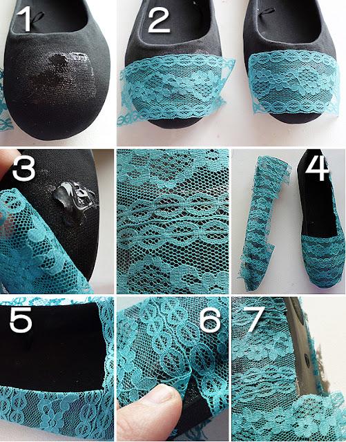 renovar zapatos con encajes
