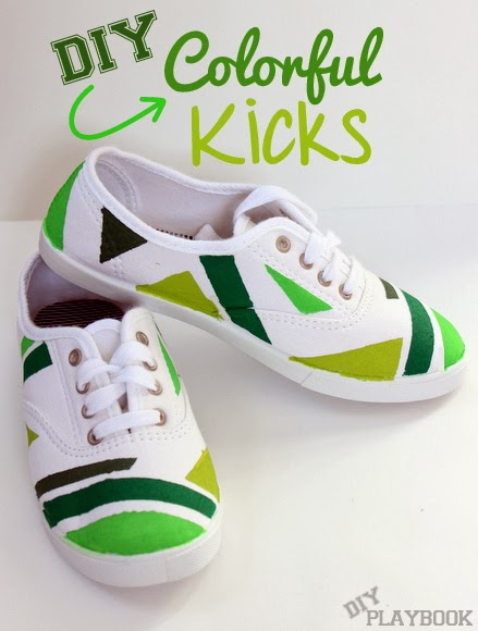 diy painted shoes