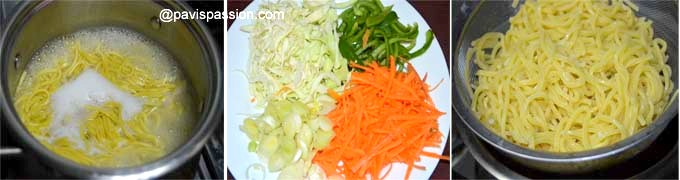 how to make veg hakka noodles at home