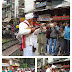 Artist performing and entertaining crowd at Mall Road Manali.