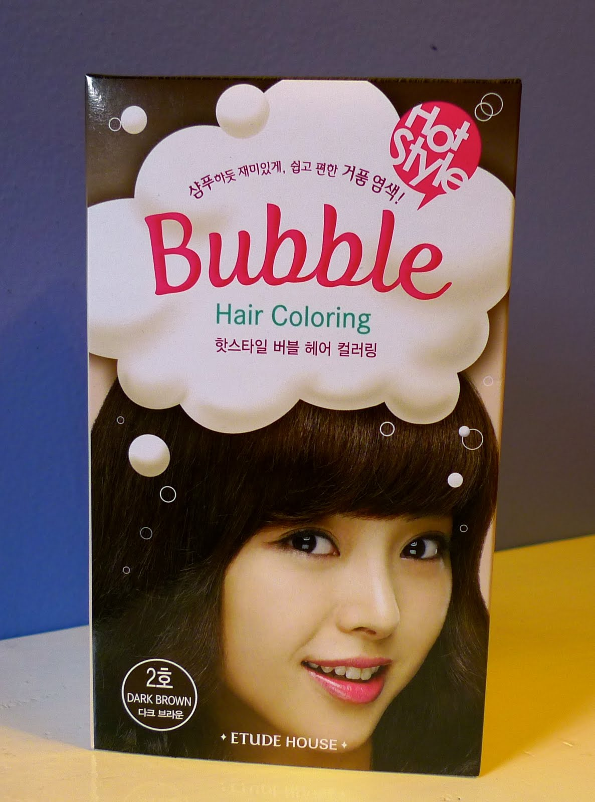 Review Etude House Bubble Hair Color In Dark Brown 2 The Beauty