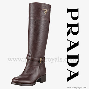 Crown Princess Mary Style PRADA Womens Riding Boot
