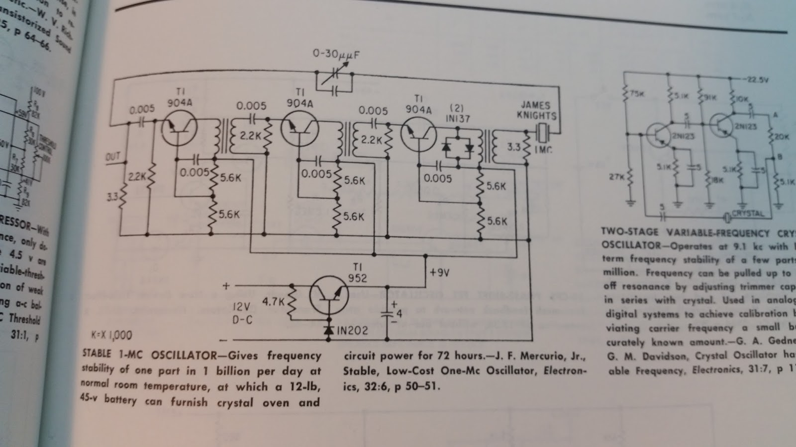 Oscillators Amplifiers Systems Oh My Sams Electrical Journal Tutorial Part 3 Commoncollector Sample Circuits From The Sourcebook Of Electronic By Markus