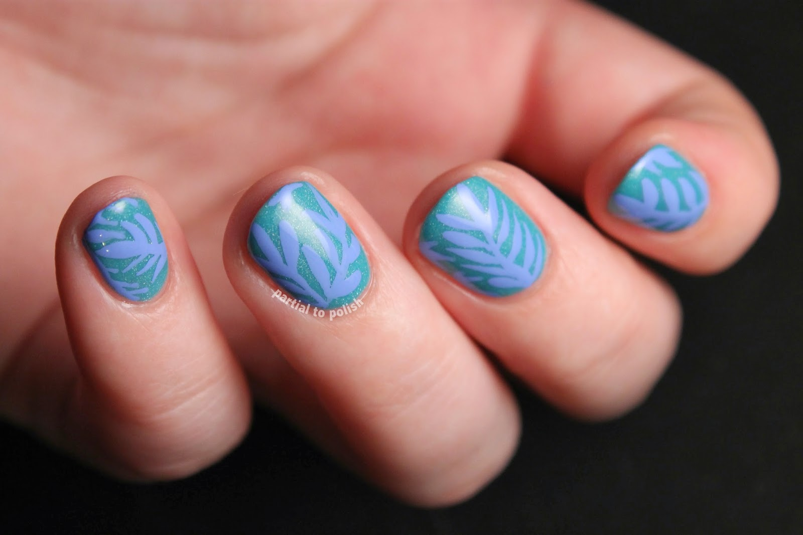 Mrcandiipants Inspired Fern/Leaf Nail Art