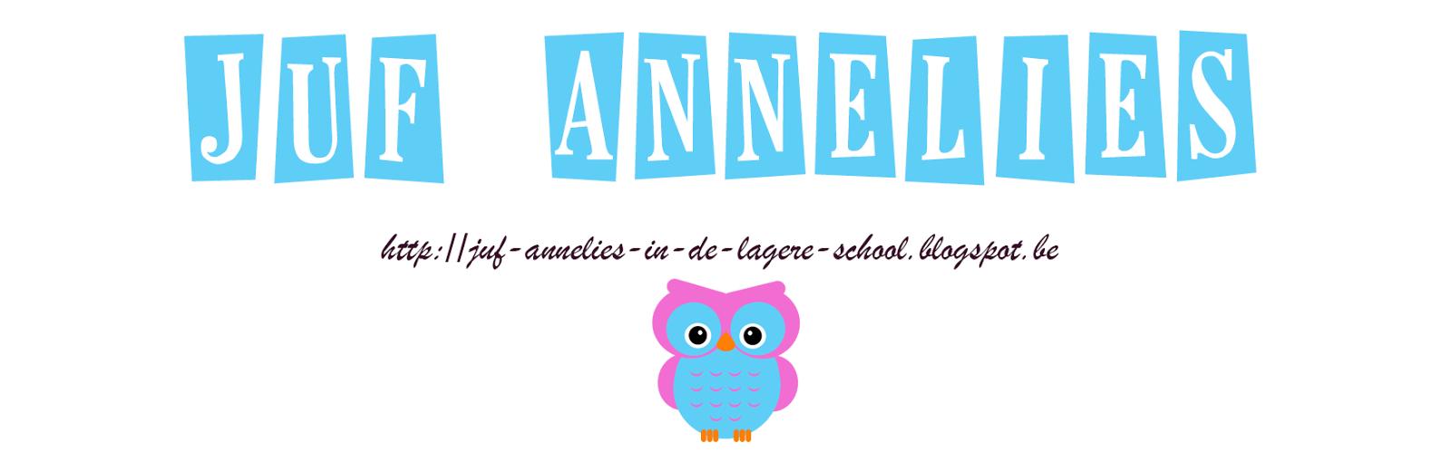 Juf Annelies in de lagere school