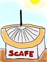 Disegno di uno scafe
