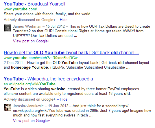 Actively Discussed Google+