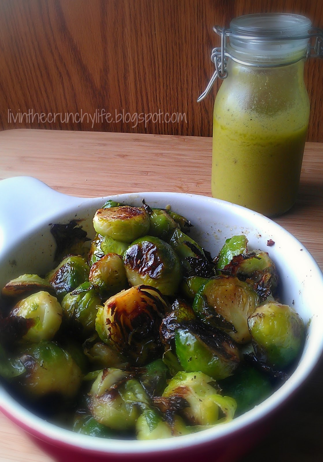 Roasted Brussels Sprouts with Meyer Lemon Vinaigrette