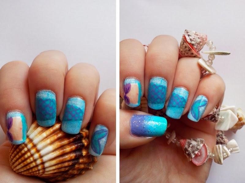 Mermaid nails sea sealife nails
