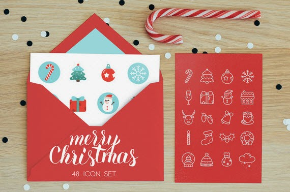 48 Vector Merry Christmas Icon set