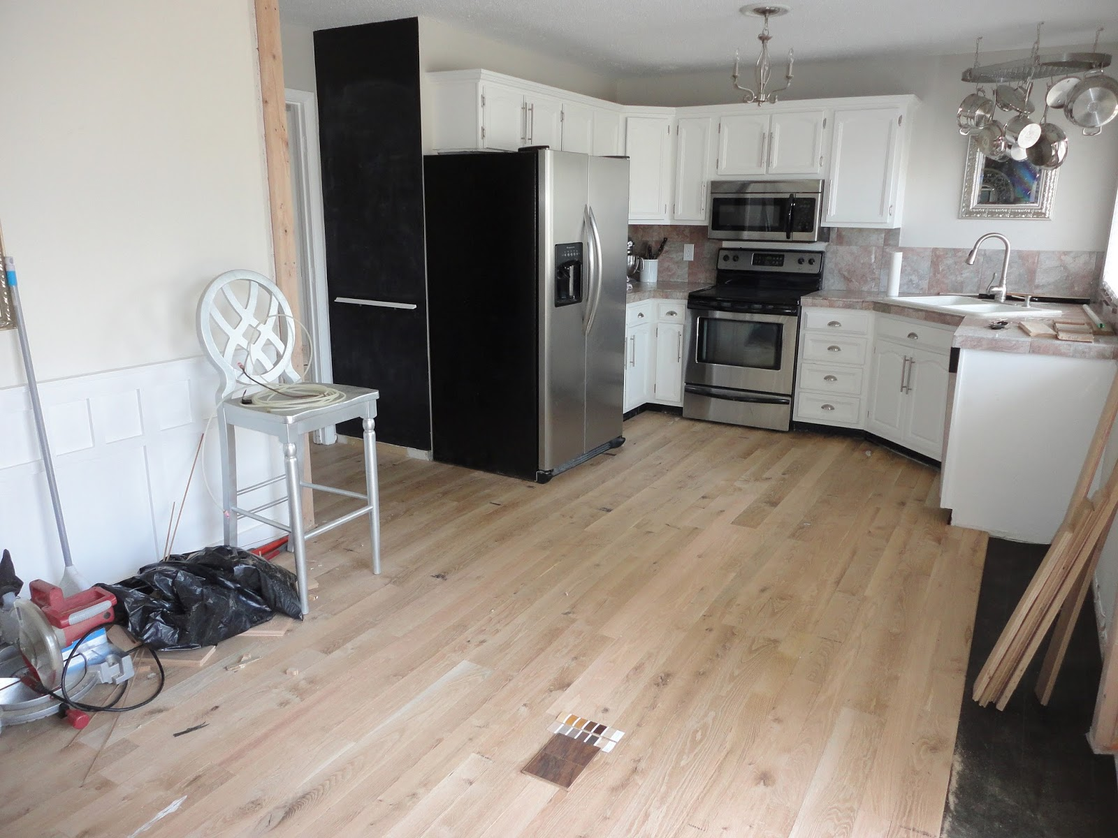 LiveLoveDIY Our S House Makeover Part My Biggest Flooring - Light or dark wood flooring
