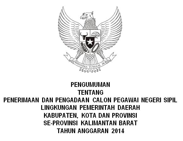List CPNS Provinsi Kalimantan Barat