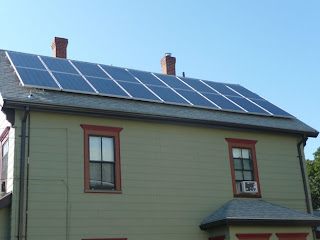 4.14 kW solar array on roof of house in New England