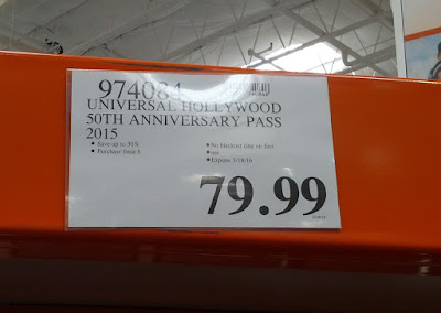 Universal Studios Hollywood Adult Season Pass at Costco
