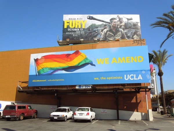 UCLA We amend rainbow Pride flag billboard