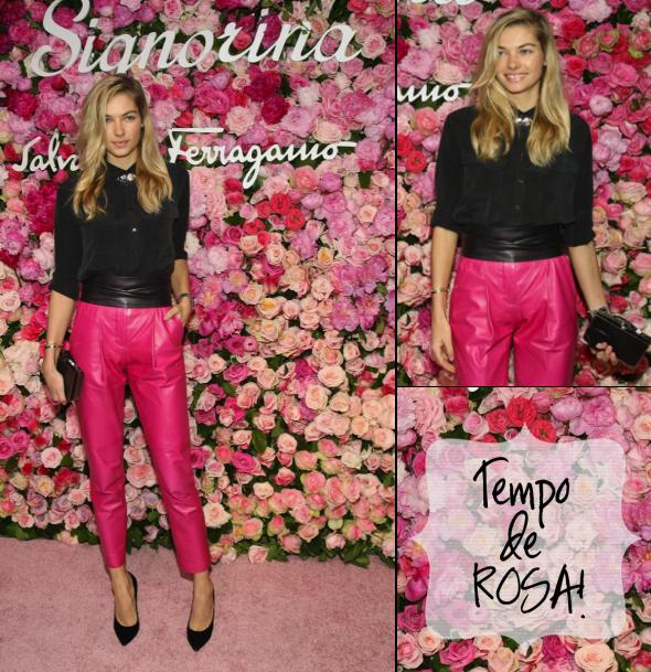 calca rosa na moda inverno 2012