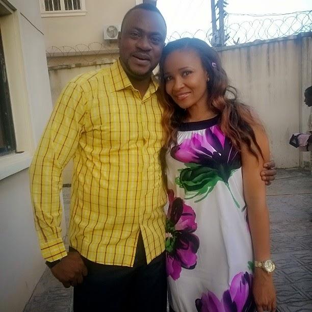Check Out Odunlade Adekola and Doris Simeon together on Set