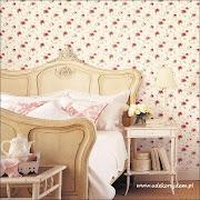 Tapety w stylu shabby shic Casadeco Dolce Vitaduże wzory kwiatowe, .
