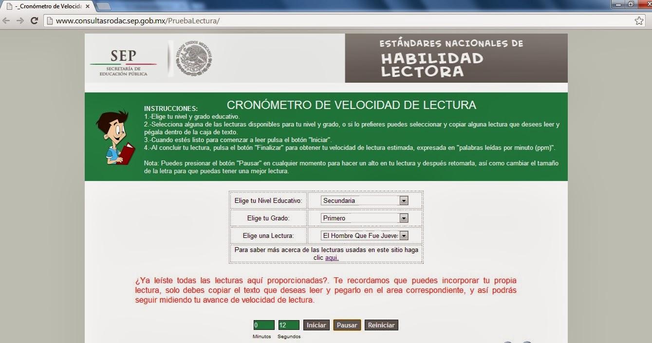 TELESECUNDARIAS ZONA 12 POZA RICA SUR: CRONÓMETRO DE VELOCIDAD DE ...