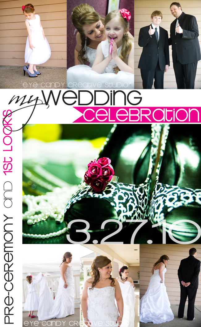 pre-ceremony, 1st looks, my wedding celebration, balck & white wedding, real wedding, damask wedding