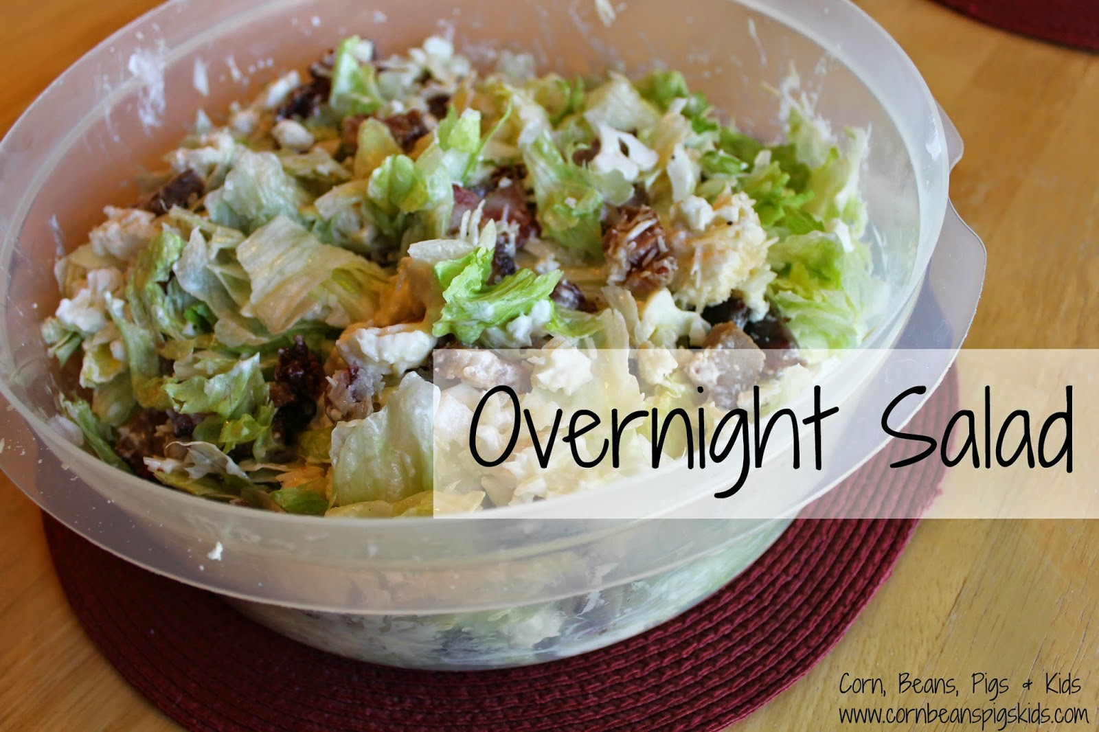 Overnight Lettuce Salad recipe - perfect for entertaining