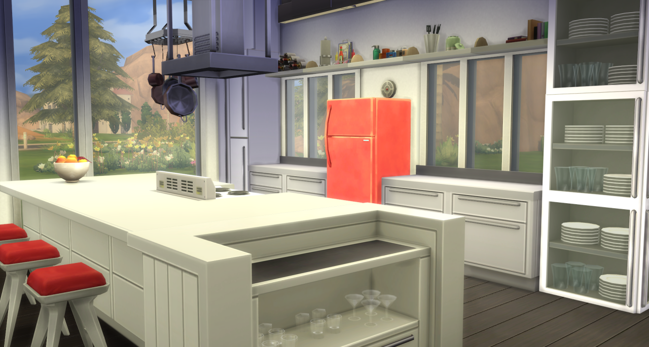 Sims Kitchen My Sims 4 Blog Modern Open Concept Kitchen Dining And Family