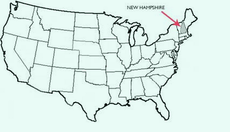 Map Of New Hampshire Towns Cities Counties Map Of USA States - New hampshire county map