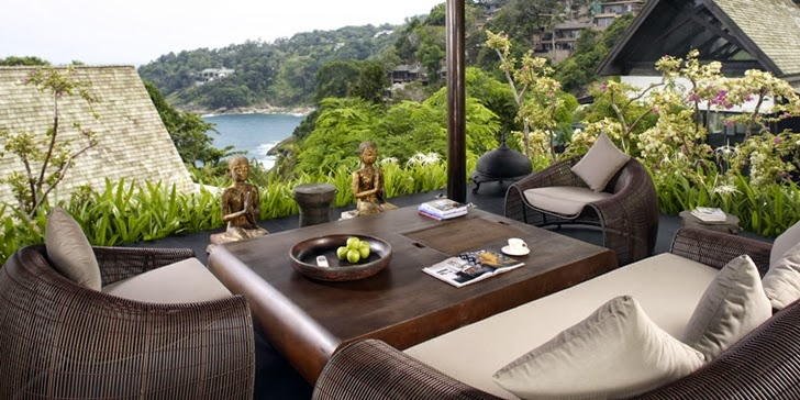 Terrace furniture in an Amazing contemporary Villa Yin in Phuket