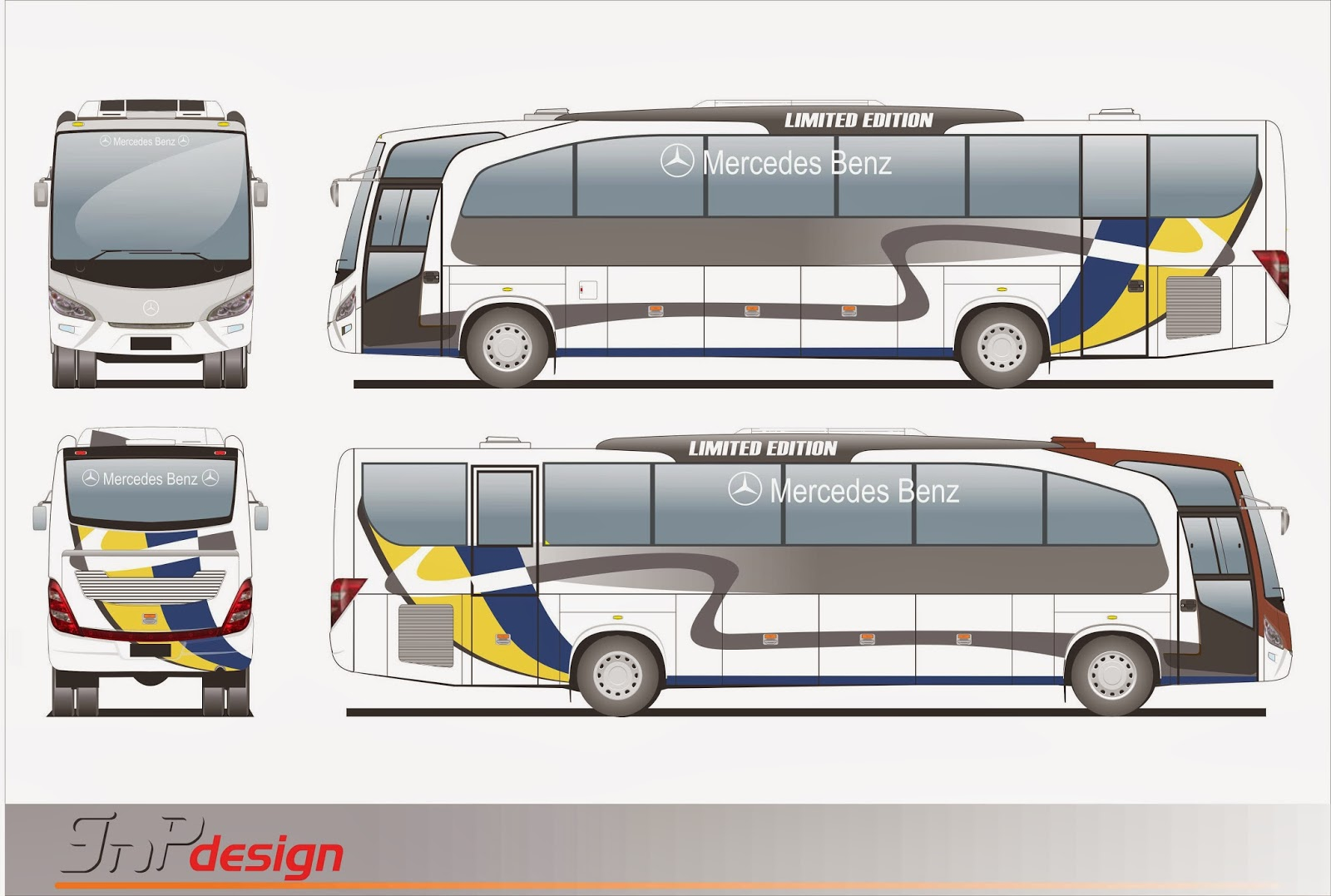 Gnp Design Livery Body Stripe Big Bus Design