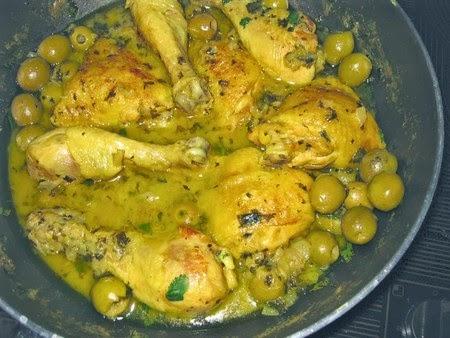 Poulet aux olives cuisine algerienne - Recette de cuisine algerienne moderne ...