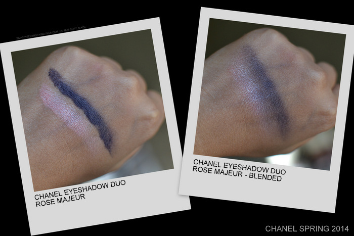 Chanel Eyeshadow Duo Rose Majeur Spring 2014 Notes de Printemps Makeup Collection Swatches Photos