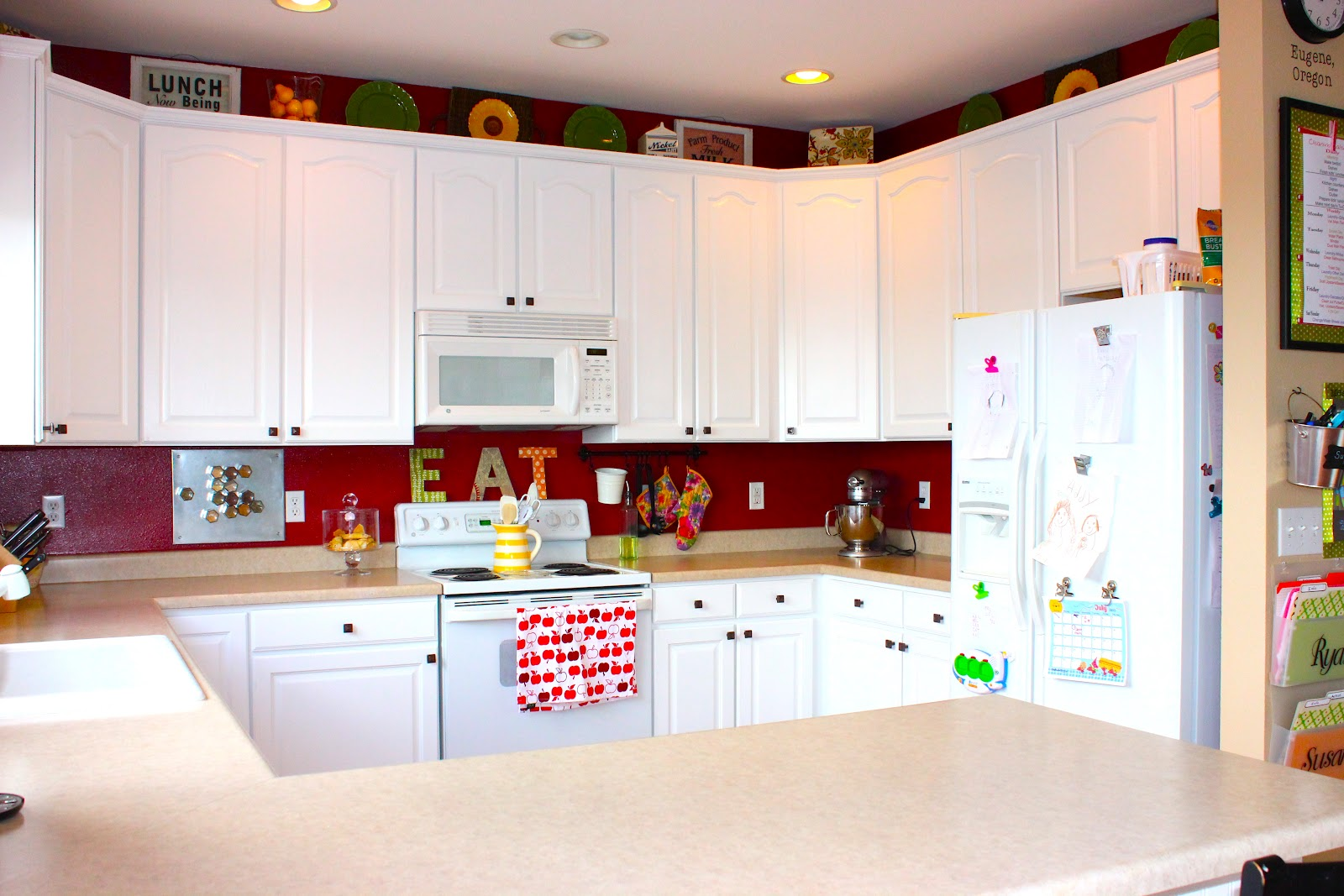 Painted Beadboard Kitchen Cabinets
