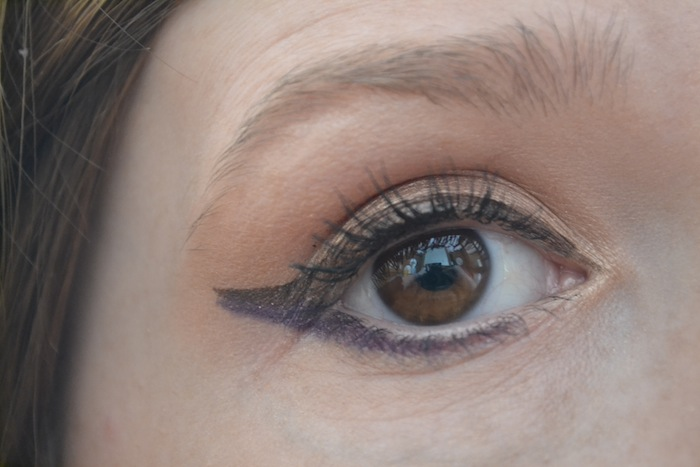 purple eyemakeup look