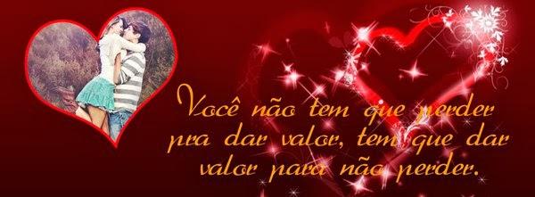 Fazer capa para o facebook Valentine's Day