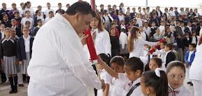 Abanderan escoltas escolares en el municipio de Veracruz