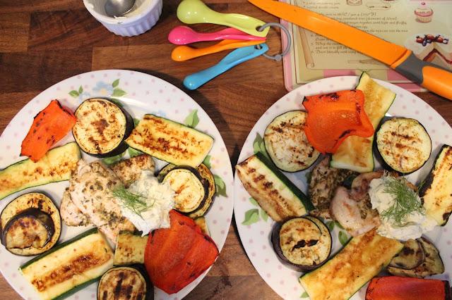 Hello Fresh Mediterranean Veg, Butterflied chicken & Dill Creme Fraiche