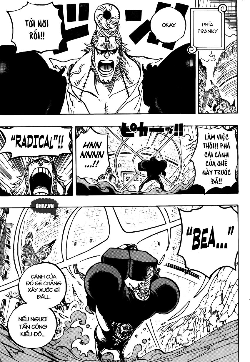 One Piece Chapter 750: Khơi màn cuộc chiến 012