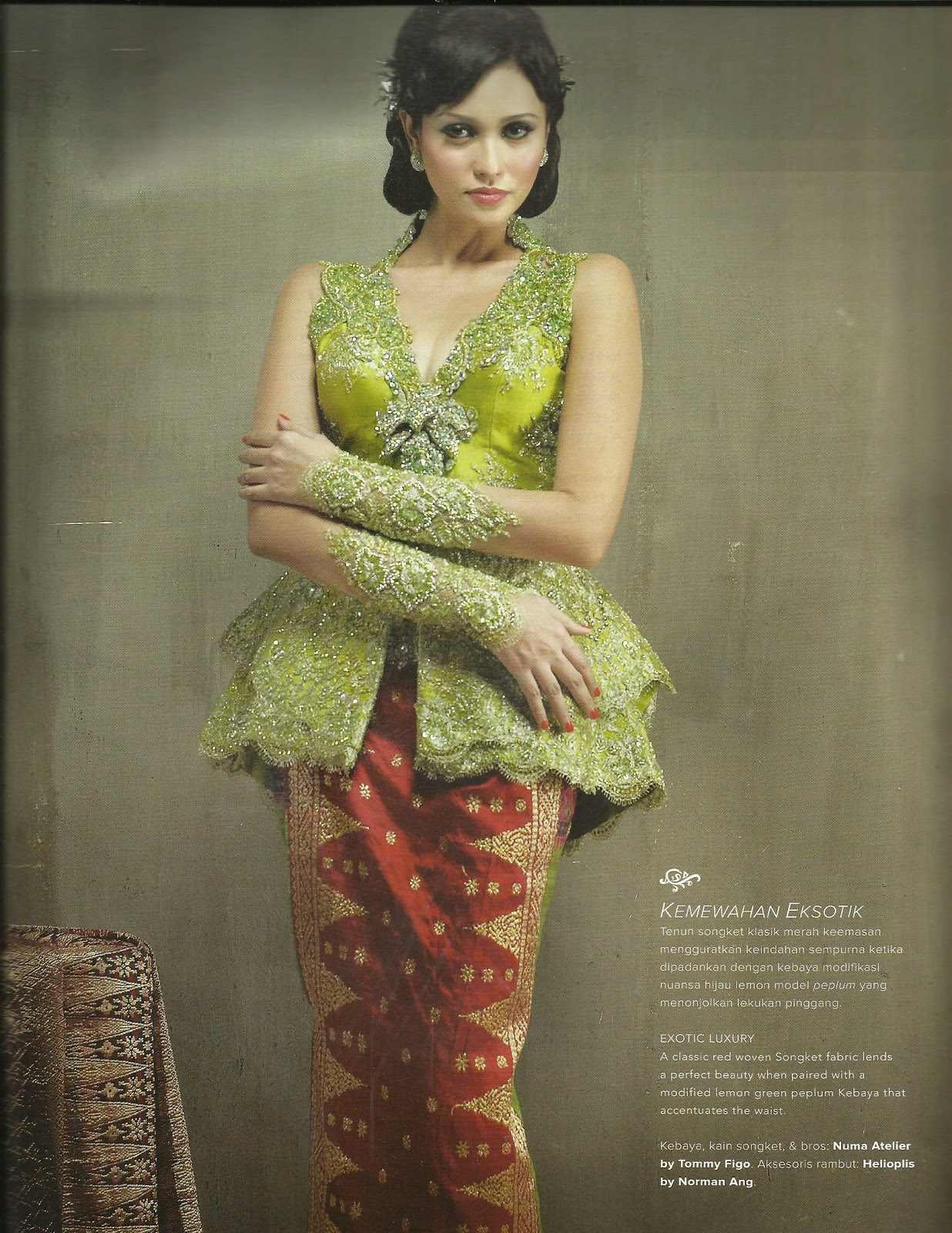 Natural And Fresh With Modern Kebaya Green International