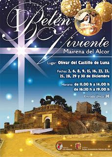 Cartel del Belén Viviente en Mairena del Alcor 2012
