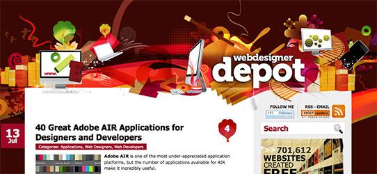 Webdesignerdepot website