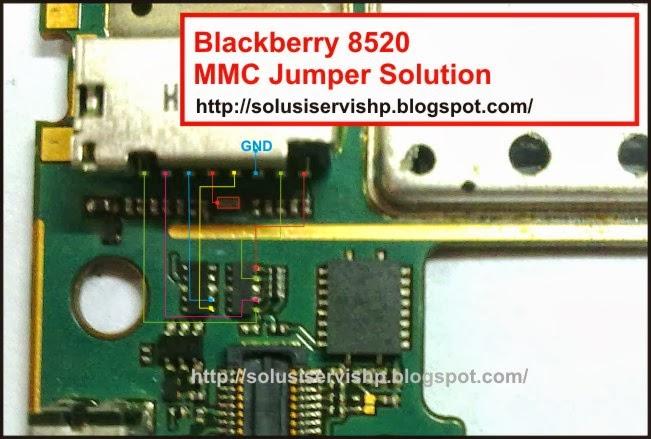 Blackberry 8520 MMC Jumper Solution